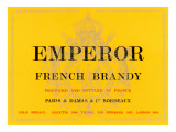Emperor French Brandy Label Posters