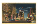 Downtown Tucson, Arizona at Night Posters