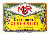 Zinfandel Wine Label Prints