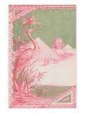 Stork with Egyptian Themes Prints