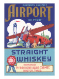 Airport Strait Whiskey Label Poster