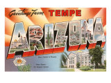 Greetings from Tempe, Arizona Print