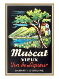 Muscat Liqueur Label Prints