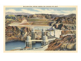 Boulder Dam and Arizona Spillway Art