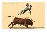Pole Vaulting over Bull Prints