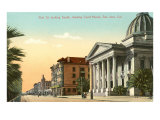Court House on First St, San Jose, California Prints