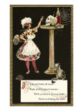French Maid Toasting Skull Posters
