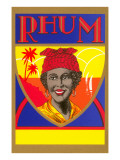 Rhum, Black Woman with Headscarf Print