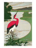 Red-Backed Heron Posters
