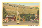 California Bottle of Champagne in Street, Paso Robles, California Wine Country Poster