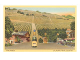 California Bottle of Champagne in Street, Paso Robles, California Wine Country Prints