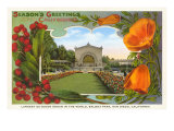 Organ Pavilion, San Diego, Season's Greetings Prints