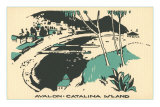 Graphic of Avalon, Catalina Island, California Posters