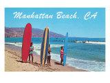 Surfers at Manhattan Beach Art