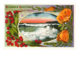 Season's Greetings, California Surf, Poppies Art