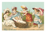 Victorian Soap, Baby in Basket Prints