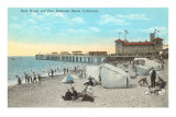 Bath House and Pier, Redondo Beach Prints