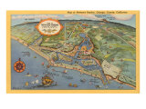 Map of Newport Harbor Prints