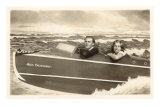 Couple in Fake Speedboat, Miss California Prints