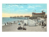 Bath House and Pier, Redondo Beach Posters