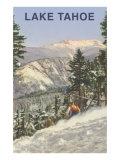 Skier, Lake Tahoe Posters
