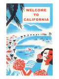 Welcome to California, Bay with Piers Prints
