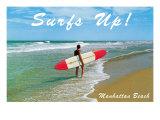 Surfs Up, Manhattan Beach Posters