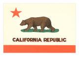 California Flag Print