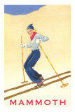 Woman Skiing Down Hill, Mammoth Print