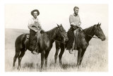 Two Riders on Horseback Print