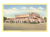 Auditorium and Fire House, Santa Cruz Posters