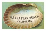 Clam Shell Souvenir from Manhattan Beach, California Posters