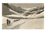 Cross Country Skiers in Bear Valley Kunstdrucke