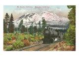 Southern Pacific Railroad and Mt. Shasta, California Print