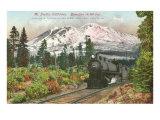 Southern Pacific Railroad and Mt. Shasta, California Print