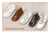 Congratulations, Baby Shoes Posters