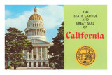 Capitol and Seal, Sacramento Posters