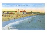 Beach at Santa Cruz Kunstdrucke