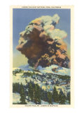 Lassen Volcano Erupting Posters