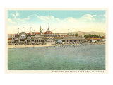 Casino and Beach, Santa Cruz Print