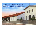 Greetings from San Luis Obispo Posters
