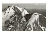 Black and White Mt. Shasta, California Plakater
