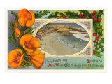 Season's Greetings from Ventura, California, Beach Prints