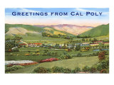 Greetings from Cal Poly, San Luis Obispo Print
