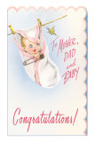 Congratulations, Baby Hanging on Line Prints