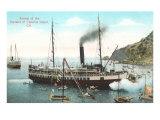Steamer at Santa Catalina Poster