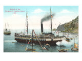 Steamer at Santa Catalina Posters
