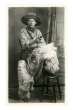 Young Cowboy with Woolly Chaps Posters