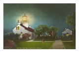 Point Pinos Light House at Night, Pacific Grove Posters