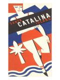 Girl in Swim Suit, Santa Catalina Island Prints